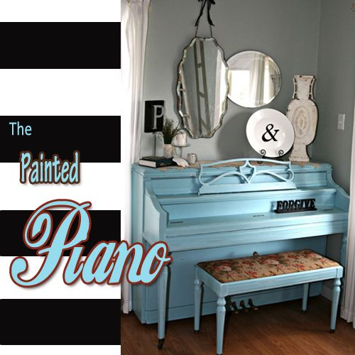 Have you ever wanted to paint your piano?!