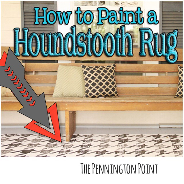 How to paint a houndstooth rug! -- The Pennington Point