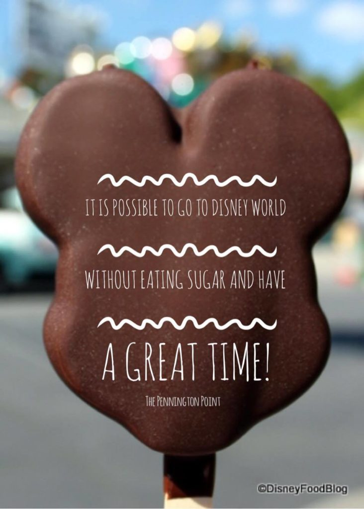 I went to Disney World without eating sugar.  Here's why I did it and how I made it work!