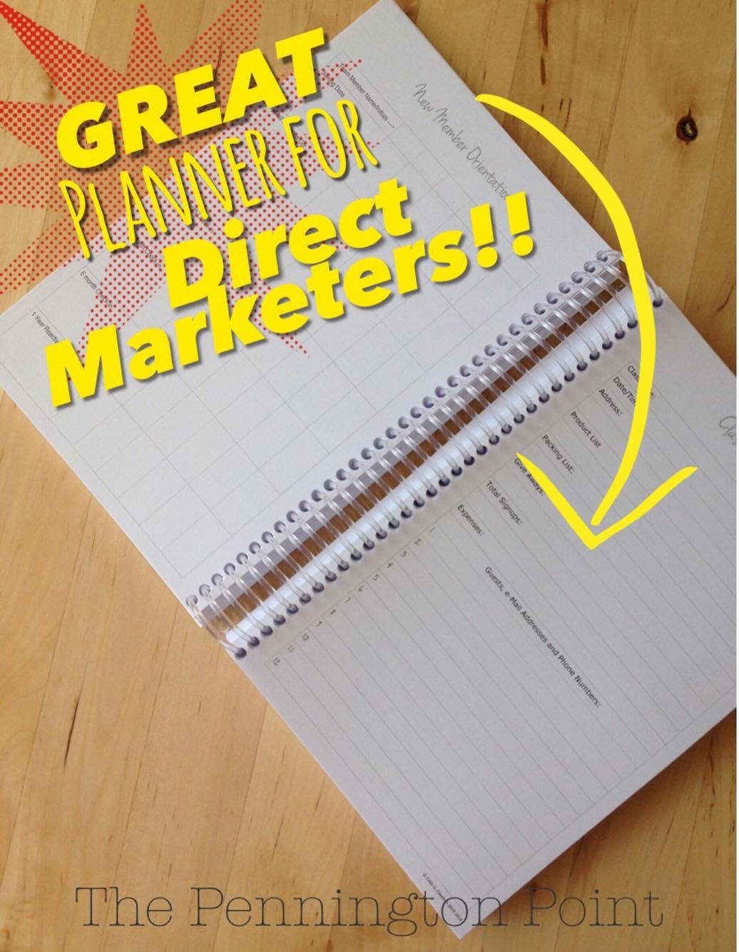 A great planner for direct marketing business builders!!