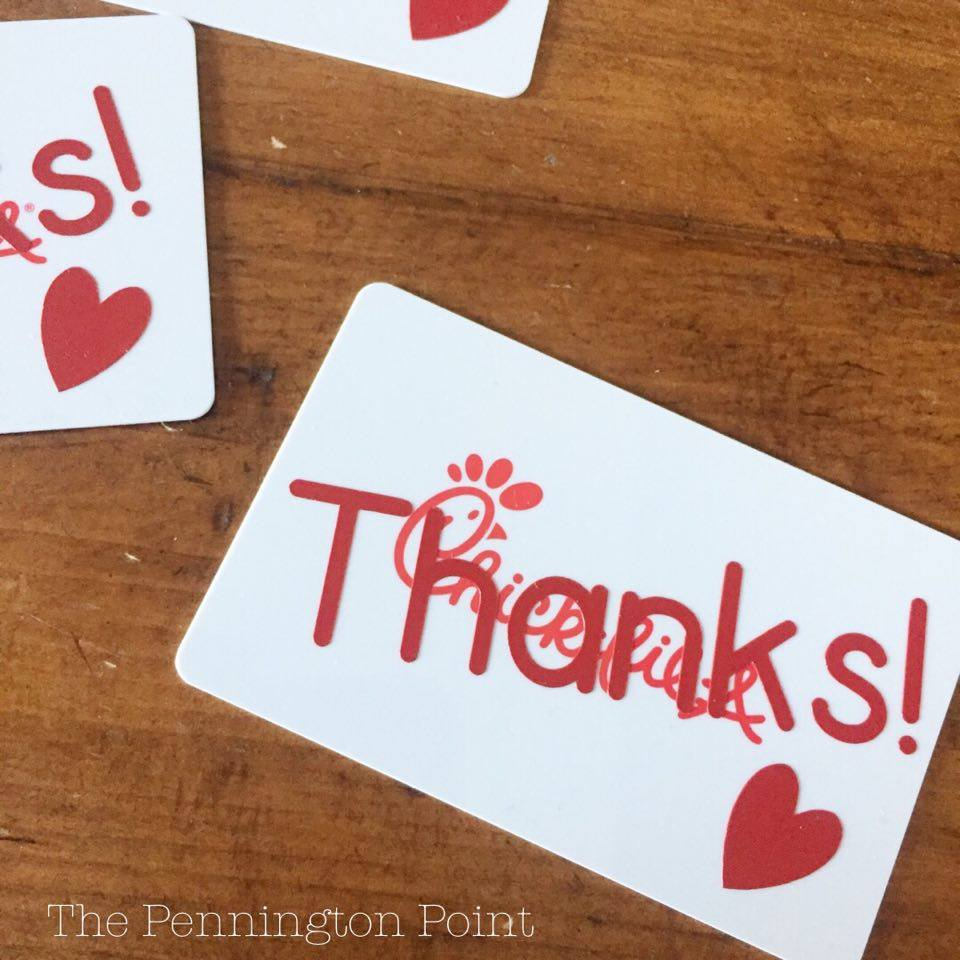 A fun way to use your Cricut for a thank you gift card! #spon