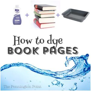 How to Dye Book Pages