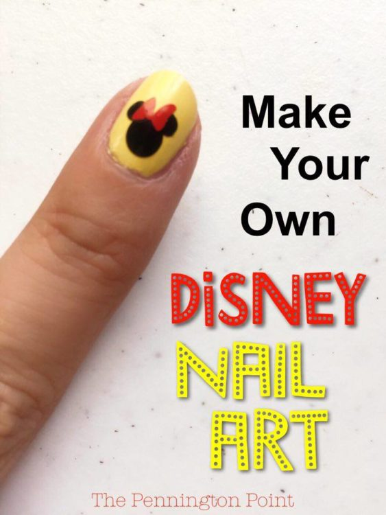 Make your own Disney nail art with the Cricut. It's so fun and easy and FREE usning scraps from other projects.