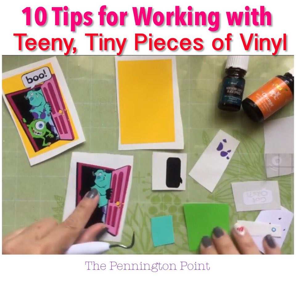 10 Tips for Working with Teeny Tiny Pieces of Adhesive Vinyl