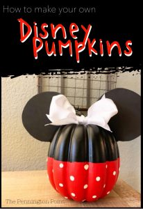Easy to Make Disney Pumpkins